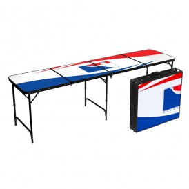 White Beer Pong Table By Bpong 8 Ft Aluminum
